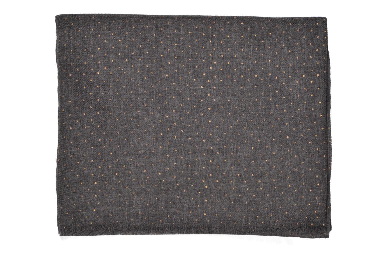 Divers Petite mendigote GINGER Foulard laine 100x200 Gris vue derrière
