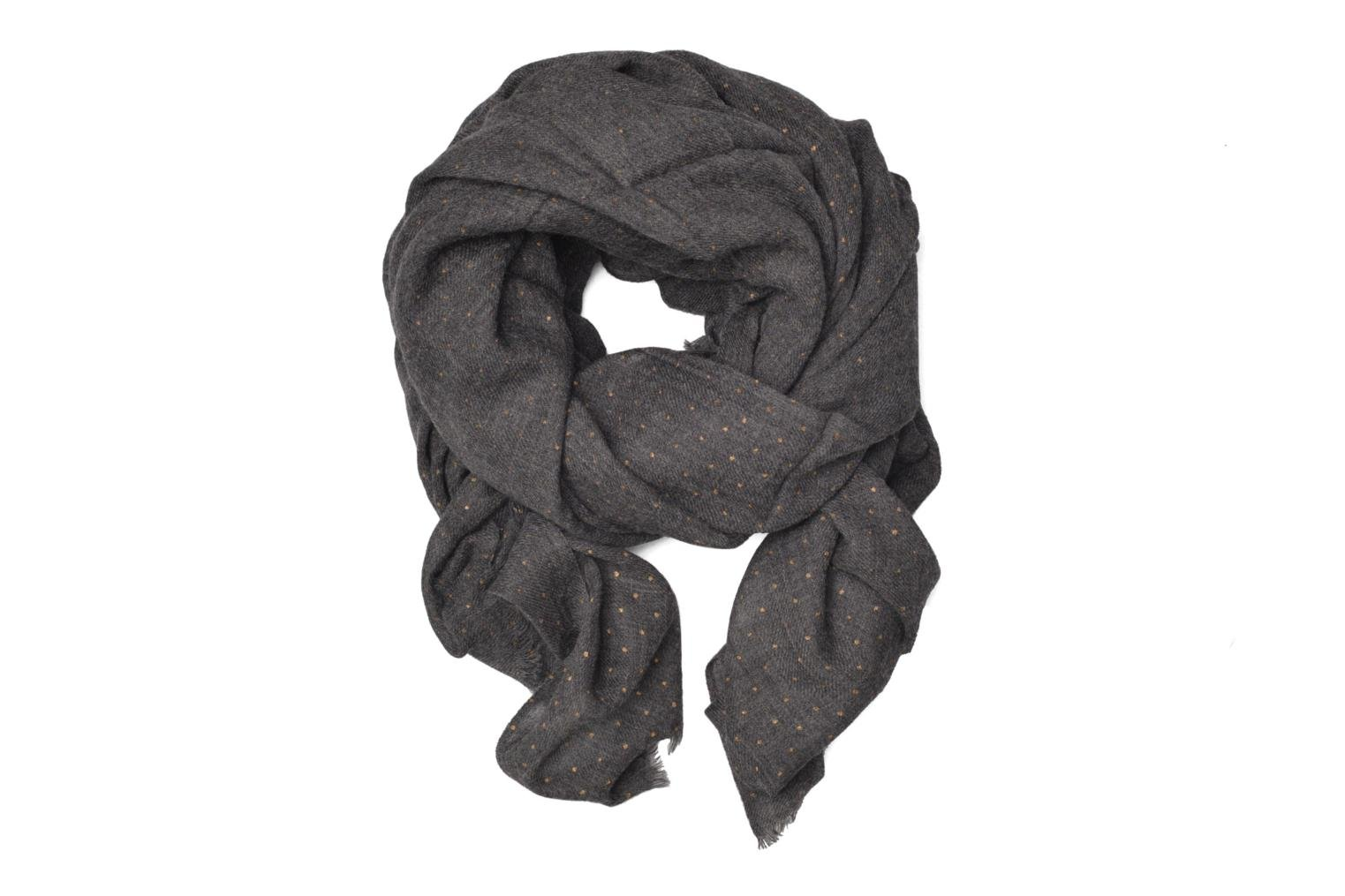 Miscellaneous Petite mendigote GINGER Foulard laine 100x200 Grey detailed view/ Pair view