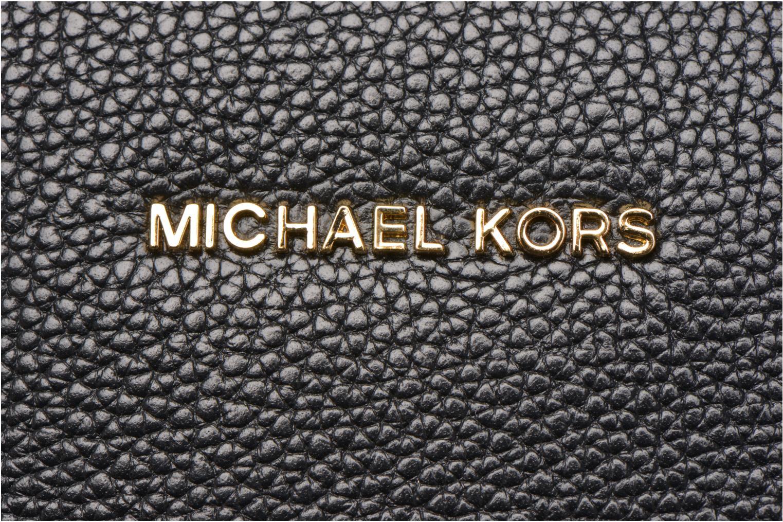Bolsos de mano Michael Michael Kors MERCER LG Convertible Satchel Negro vista lateral izquierda