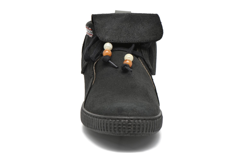 Baskets Victoria Botin Flecos Serraje F Noir vue portées chaussures