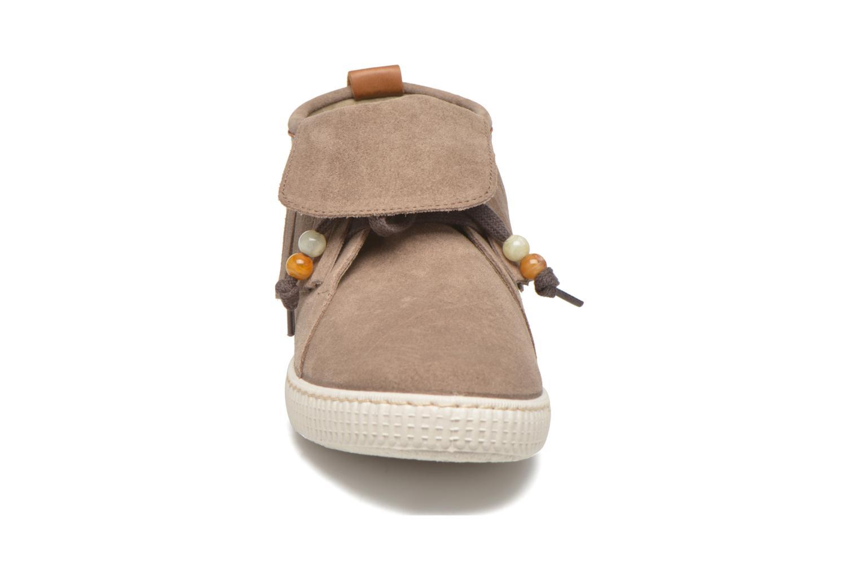 Sneaker Victoria Botin Flecos Serraje F braun schuhe getragen