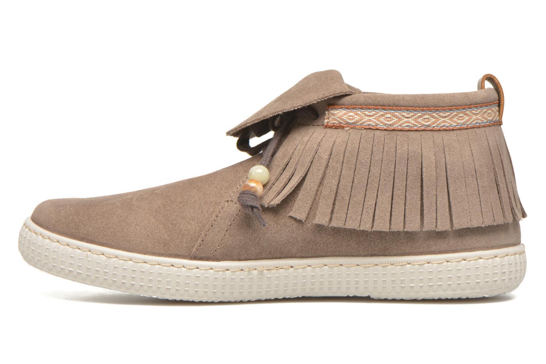 Sneaker Victoria Botin Flecos Serraje F braun ansicht von vorne