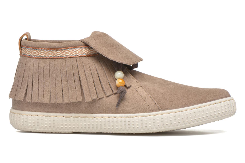 Sneaker Victoria Botin Flecos Serraje F braun ansicht von hinten