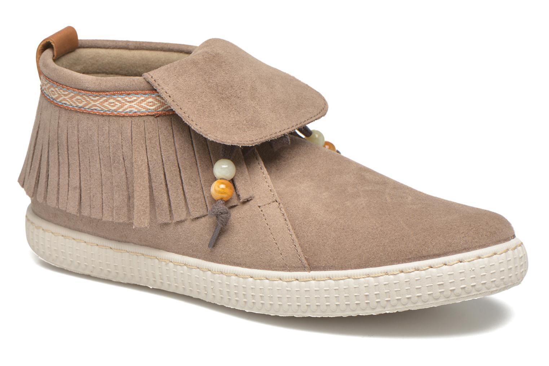 Sneakers Victoria Botin Flecos Serraje F Brun detaljeret billede af skoene