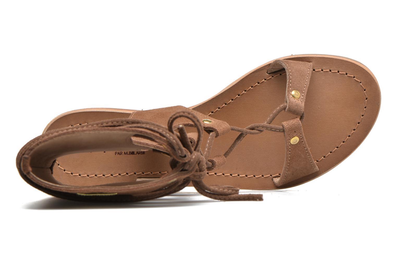 Sandales et nu-pieds Les Tropéziennes par M Belarbi Baktal Marron vue gauche