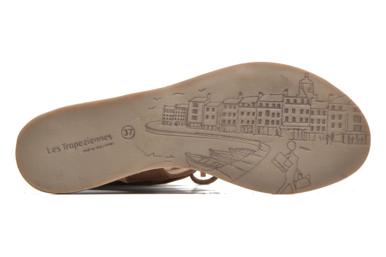 Sandales et nu-pieds Les Tropéziennes par M Belarbi Baktal Marron vue haut