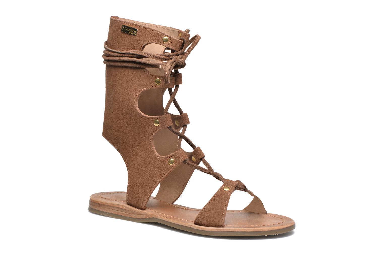 Sandales et nu-pieds Les Tropéziennes par M Belarbi Baktal Marron vue détail/paire