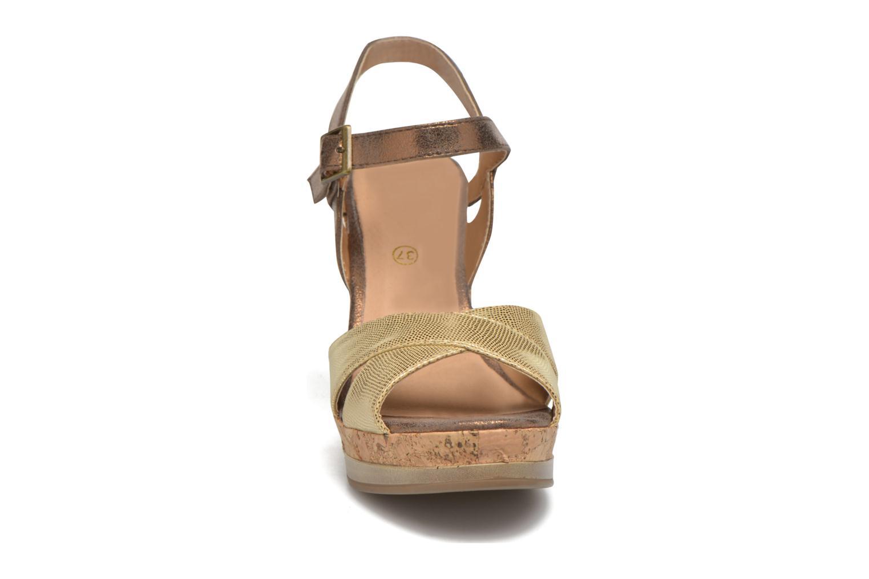 Sandales et nu-pieds Initiale Paris Carat Or et bronze vue portées chaussures
