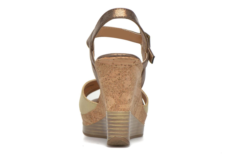 Sandales et nu-pieds Initiale Paris Carat Or et bronze vue droite
