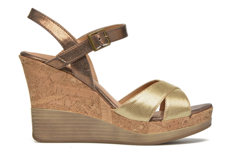 Sandales et nu-pieds Initiale Paris Carat Or et bronze vue derrière