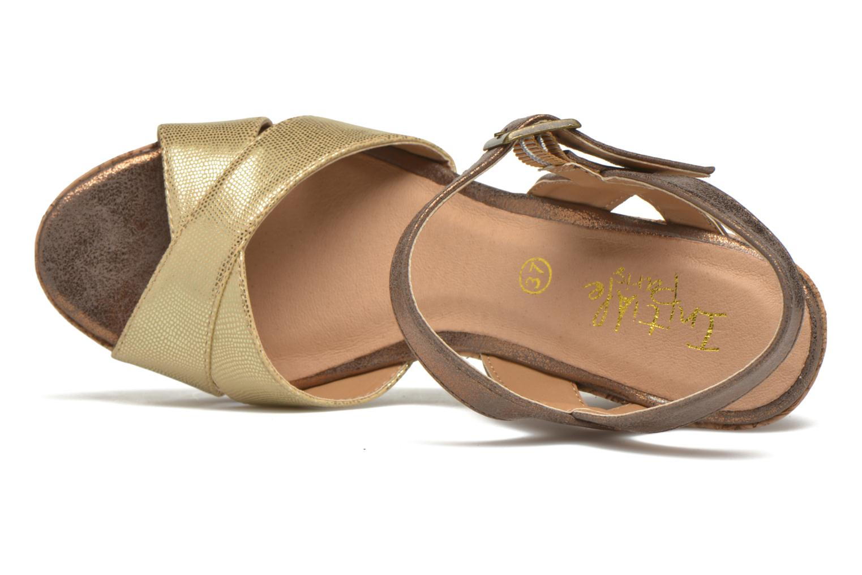 Sandalias Initiale Paris Carat Oro y bronce vista lateral izquierda