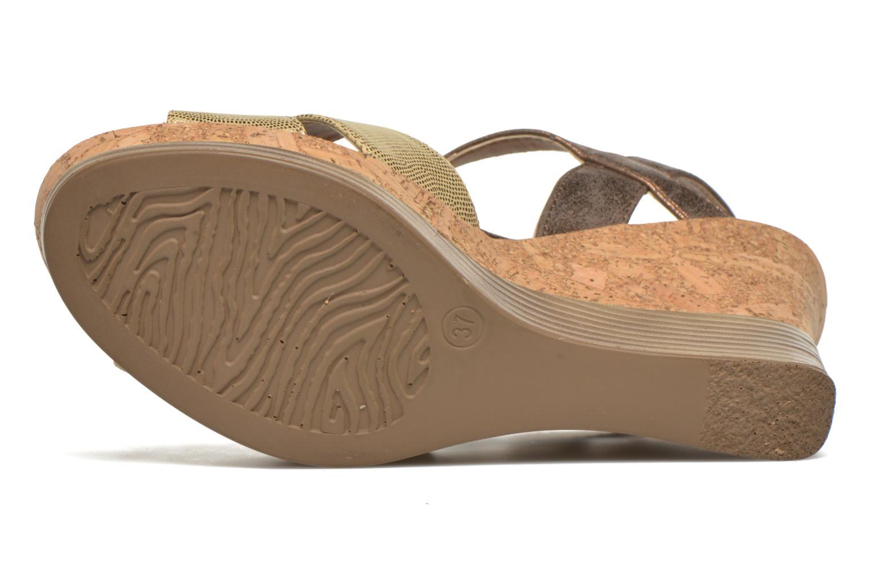 Sandales et nu-pieds Initiale Paris Carat Or et bronze vue haut