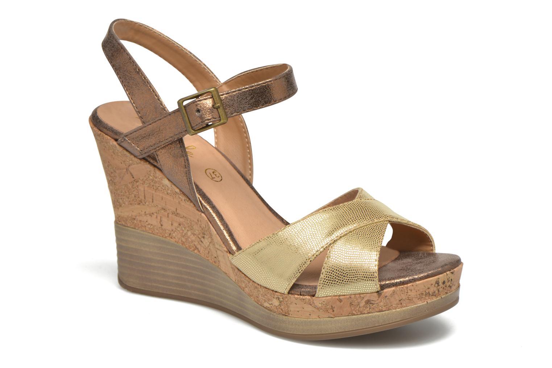 Sandales et nu-pieds Initiale Paris Carat Or et bronze vue détail/paire