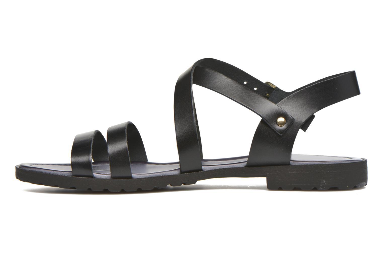 Sandals Initiale Paris Henane Black front view