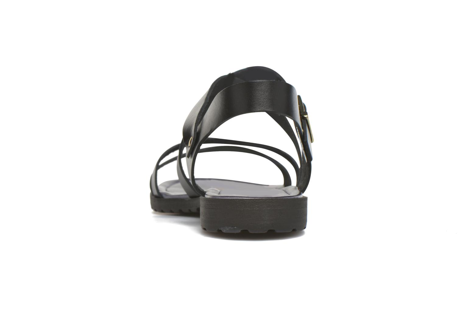 Sandals Initiale Paris Henane Black view from the right