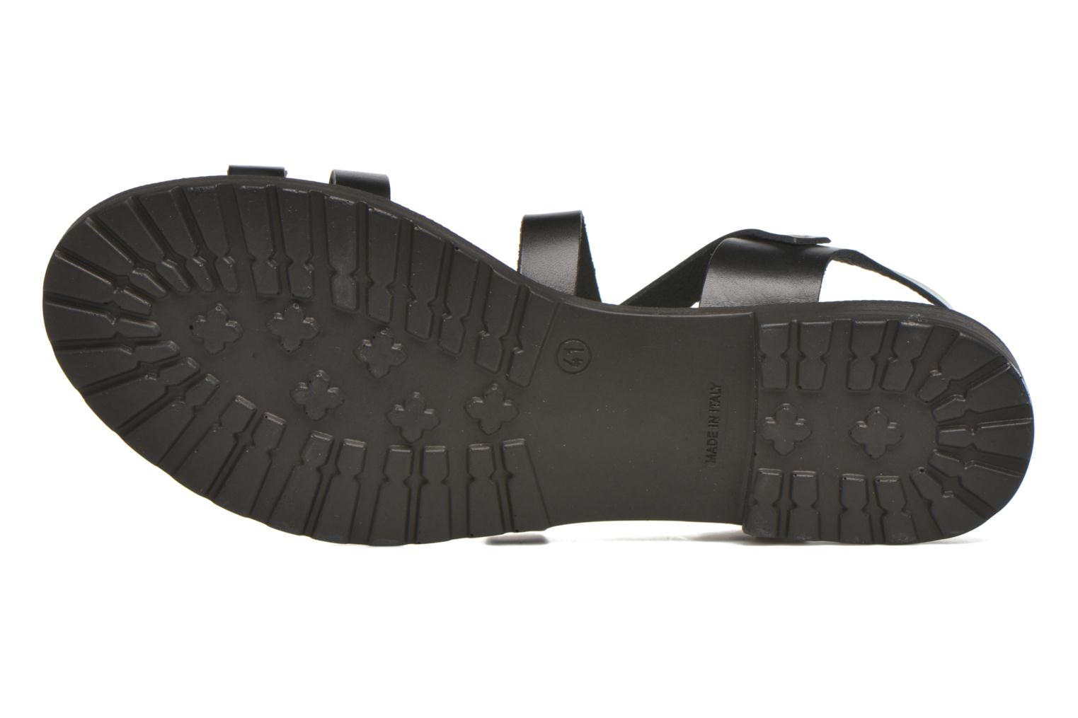 Sandals Initiale Paris Henane Black view from above