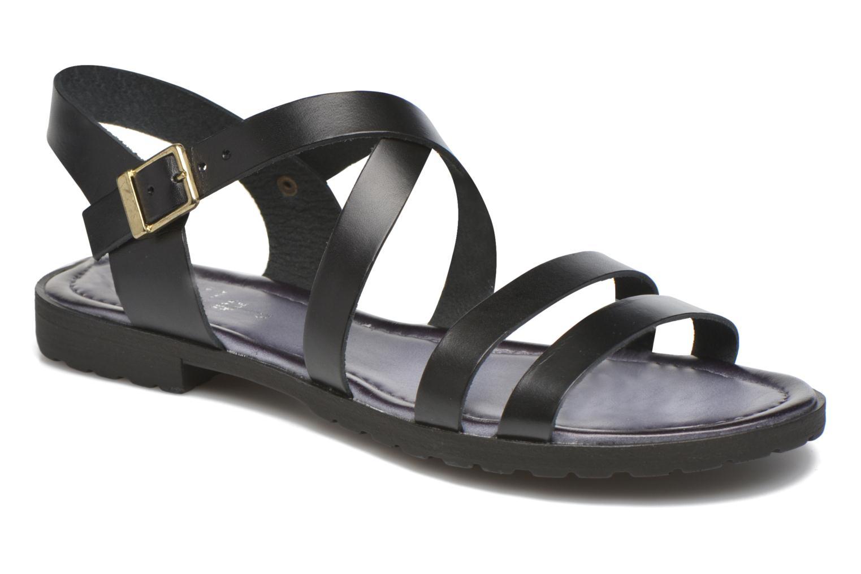 Sandals Initiale Paris Henane Black detailed view/ Pair view