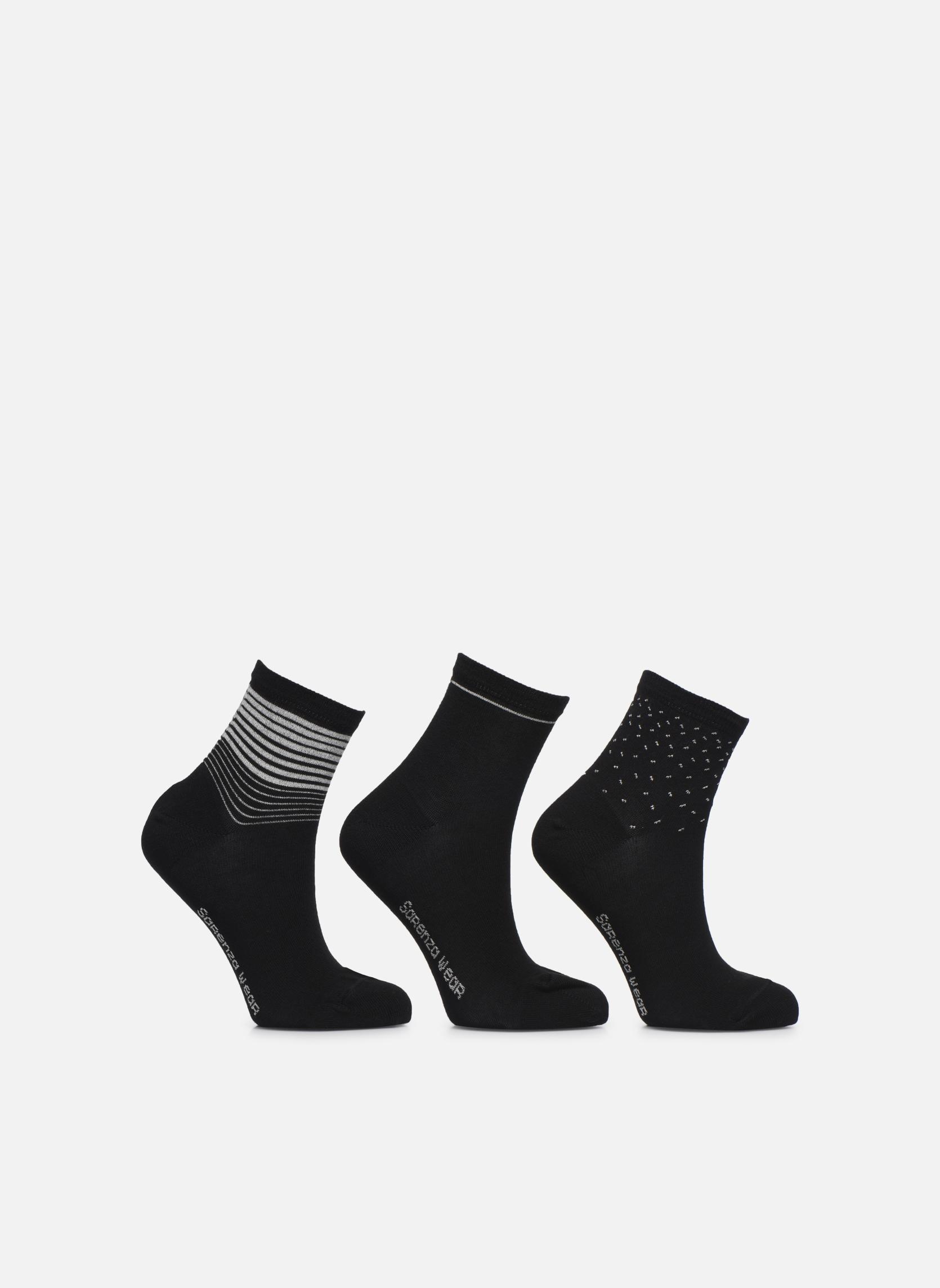 Chaussettes lurex Pack de 3 Femm… Chaussettes lurex Pack de 3 Noir