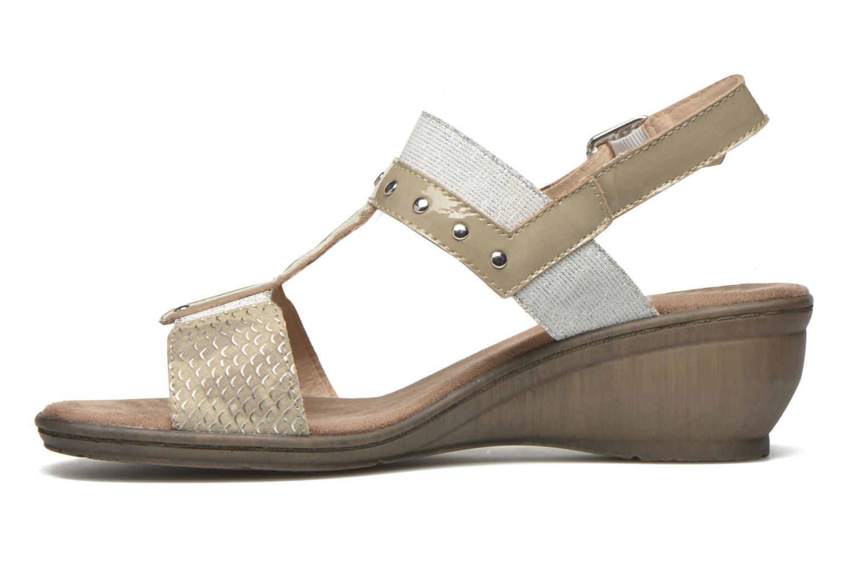 Sandales et nu-pieds Sweet Zaela Beige vue face