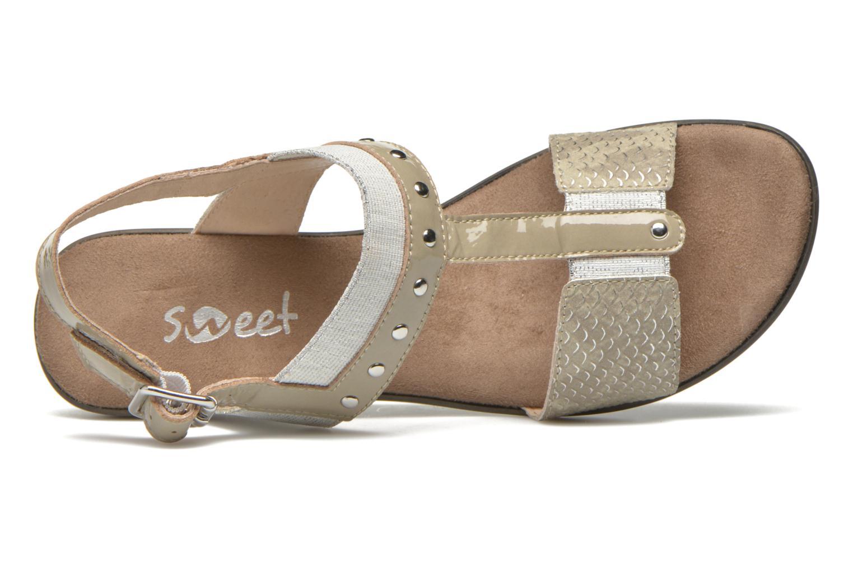 Sandales et nu-pieds Sweet Zaela Beige vue gauche