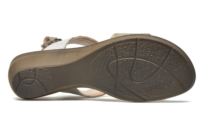 Sandales et nu-pieds Sweet Zaela Beige vue haut