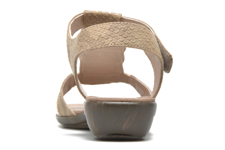 Sandales et nu-pieds Sweet Zofel Beige vue droite