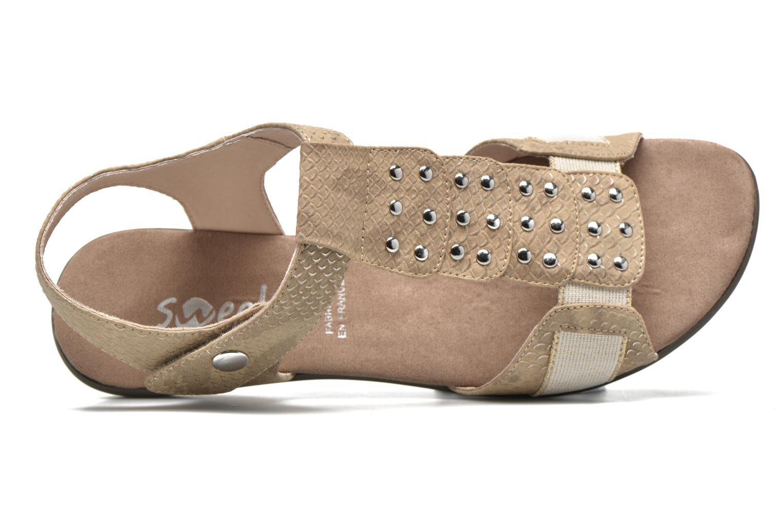 Sandales et nu-pieds Sweet Zofel Beige vue gauche