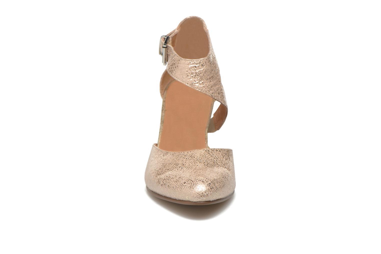 Escarpins Karston Avario Or et bronze vue portées chaussures
