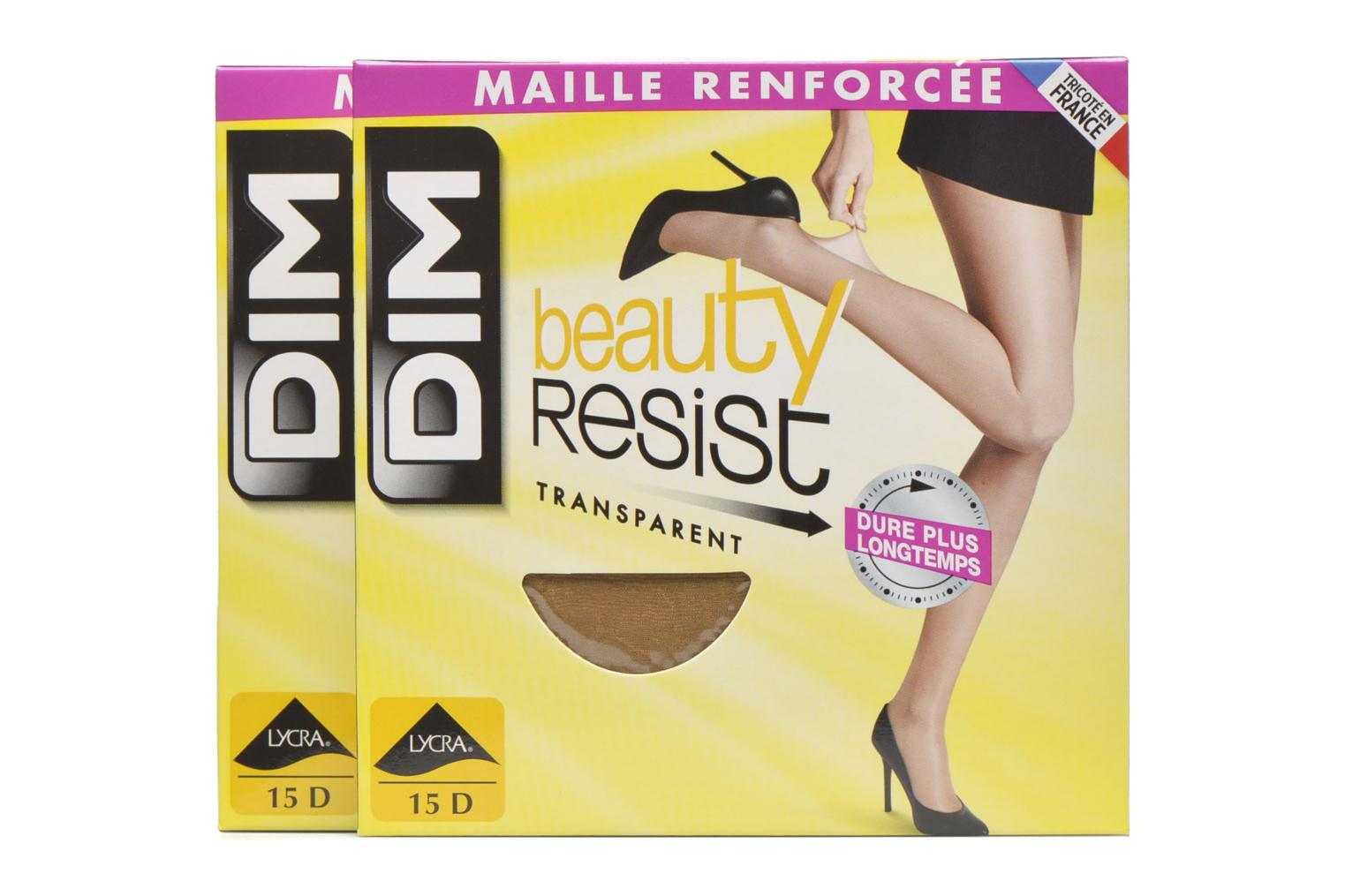 Sokken en panty's Dim Collant Beauty Resist transparant Pack de 2 Kleurloos detail