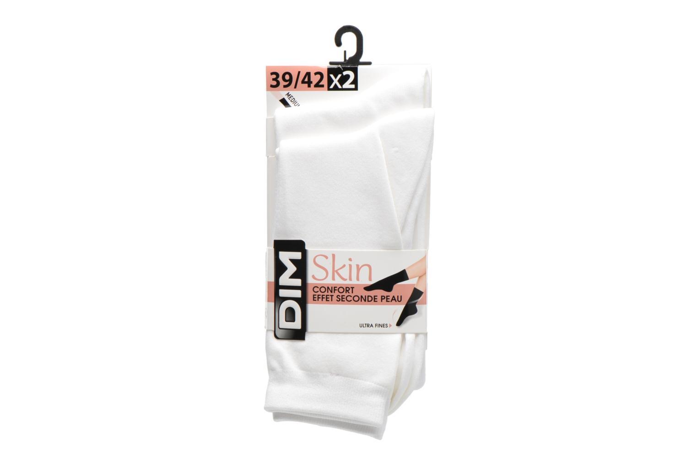 Chaussettes et collants Dim Chaussettes Skin Pack de 2 Blanc vue derrière