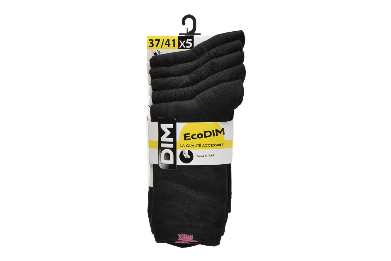 Chaussettes et collants Dim Chaussettes EcoDimW Pack de 5 Noir vue derrière