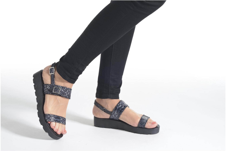 Sandales et nu-pieds L'Atelier Tropézien Ninette Beige vue bas / vue portée sac