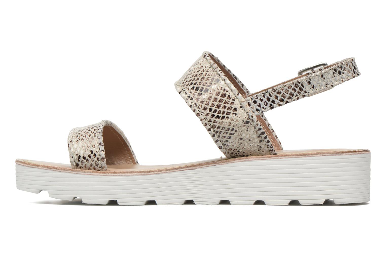 Sandales et nu-pieds L'Atelier Tropézien Ninette Beige vue face