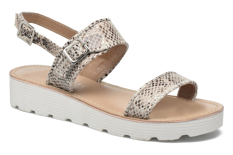Sandales et nu-pieds L'Atelier Tropézien Ninette Beige vue détail/paire