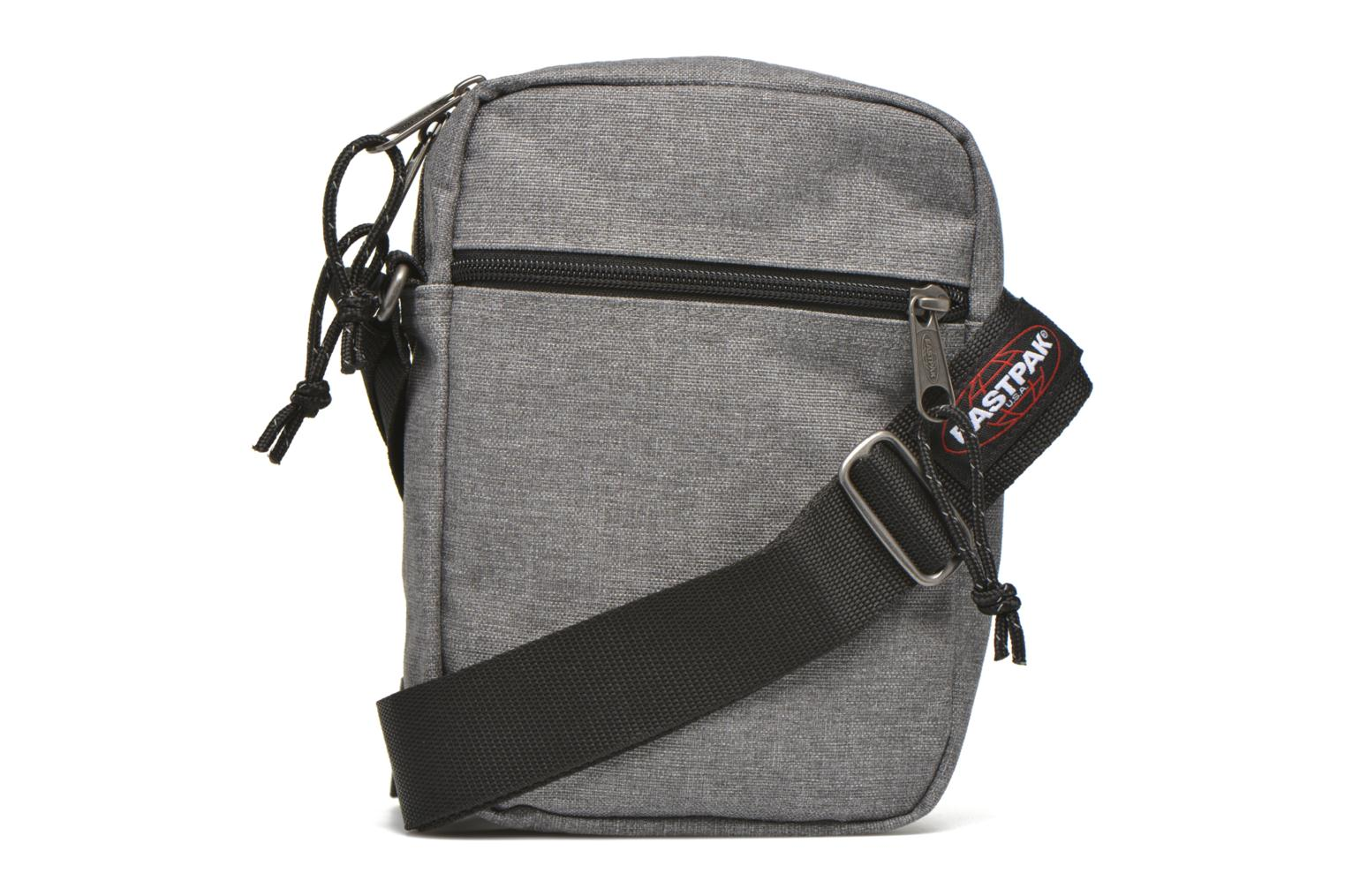 Sacs homme Eastpak THE ONE Pochette crossover Gris vue face