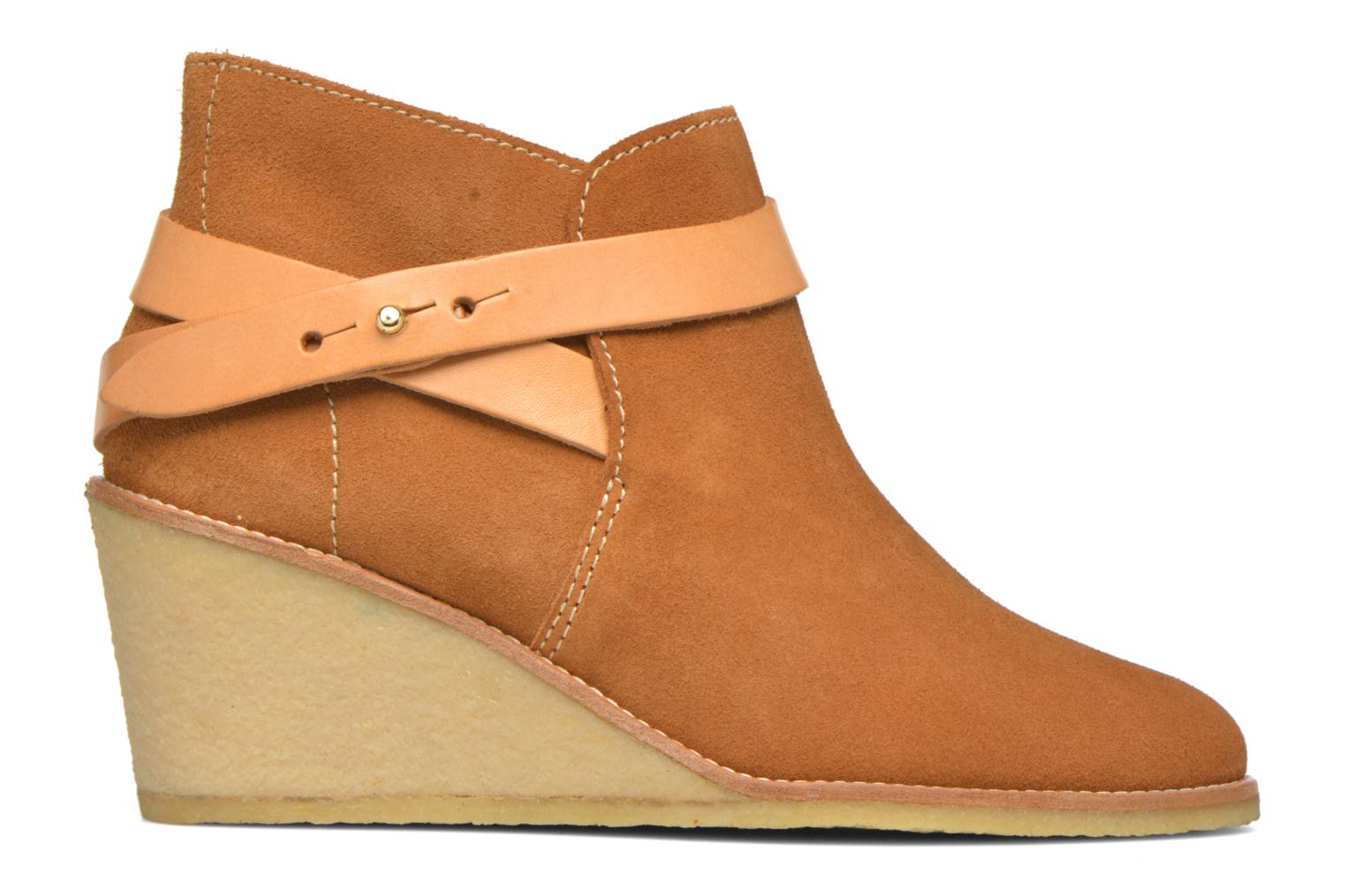 Ankle boots Aigle Diligan Brown back view