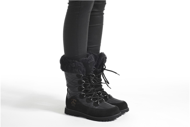 Bottines et boots Aigle Ousery Nylon 2 Noir vue bas / vue portée sac