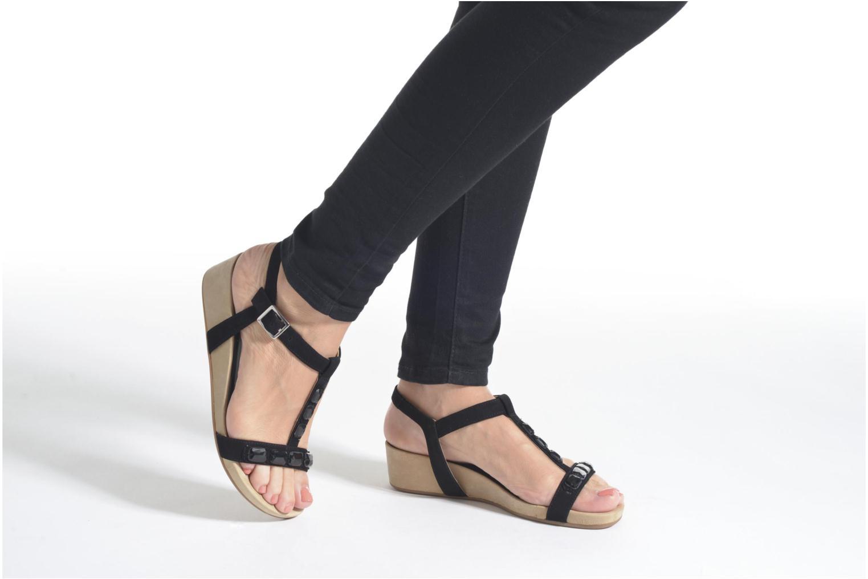 Sandales et nu-pieds Unisa Buny Marron vue bas / vue portée sac