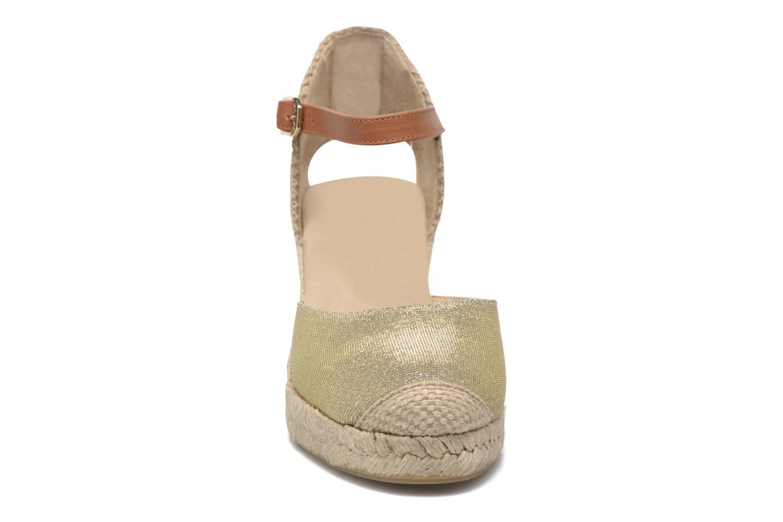 Espadrilles Unisa Caceres Or et bronze vue portées chaussures