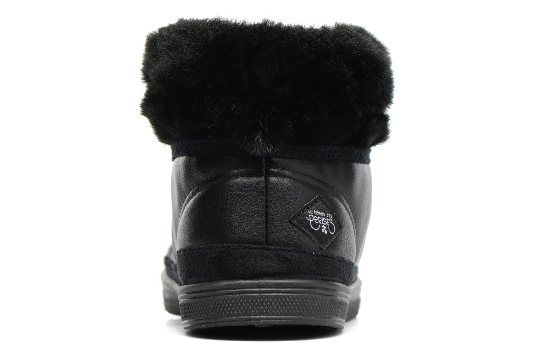 Baskets Le temps des cerises Basic 03 Fur Noir vue droite