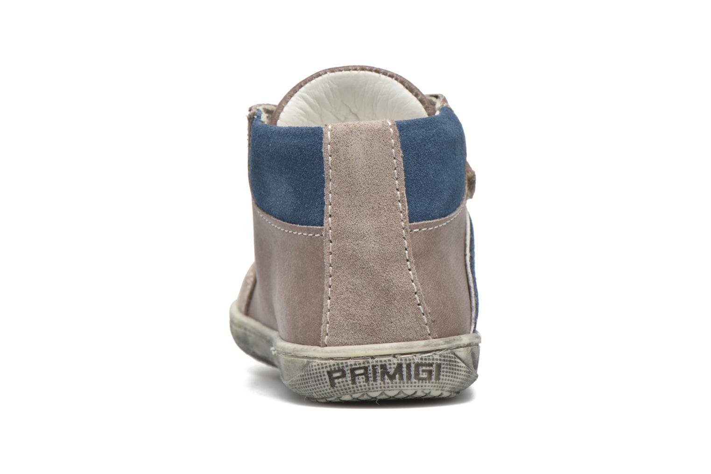 Zapatos con velcro Primigi Jordan 1 Marrón vista lateral derecha