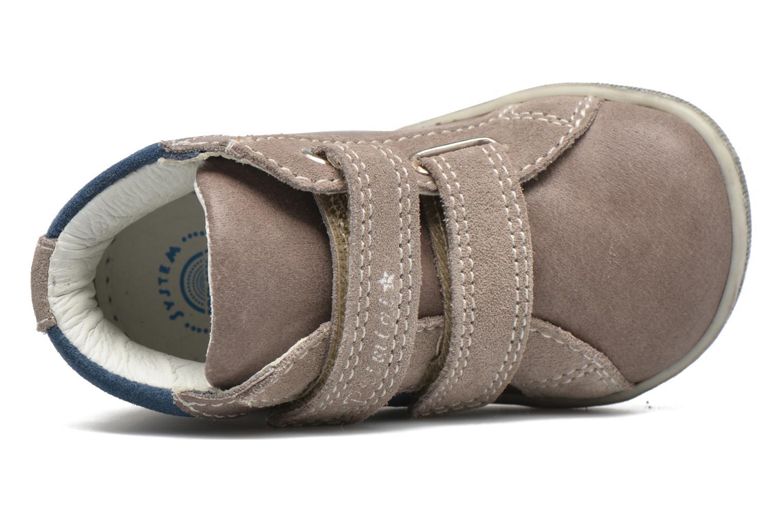 Zapatos con velcro Primigi Jordan 1 Marrón vista lateral izquierda