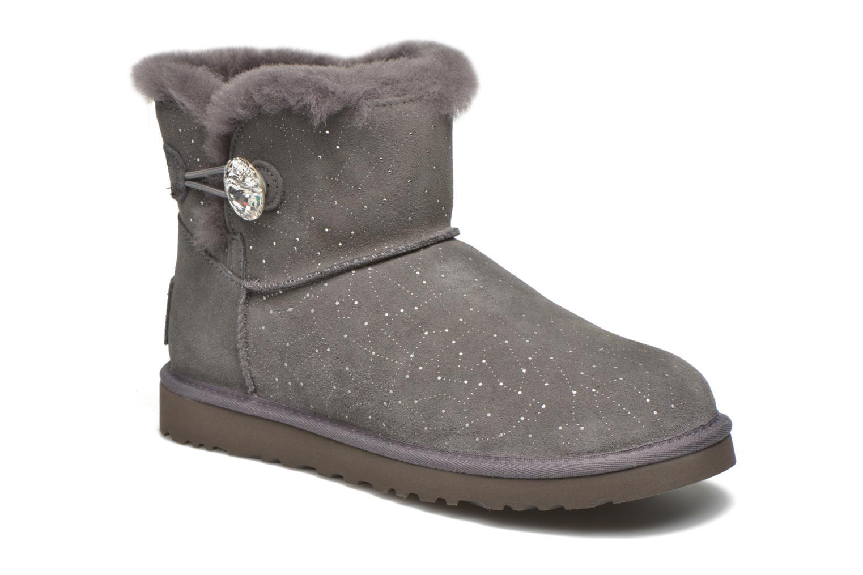 Bottines et boots UGG W Mini bailey button bling constellation Gris vue détail/paire