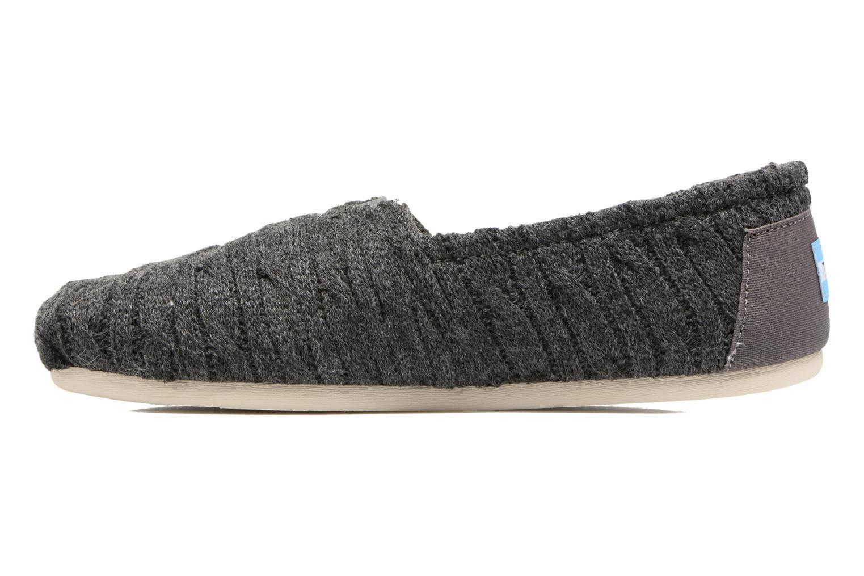 Mocasines TOMS Seasonal classics knit Gris vista de frente