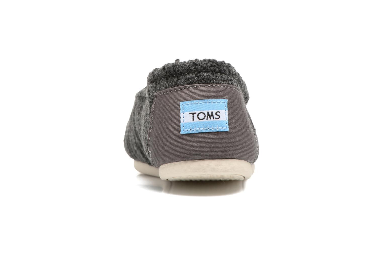 Mocasines TOMS Seasonal classics knit Gris vista lateral derecha