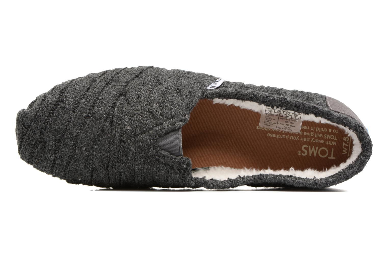 Mocasines TOMS Seasonal classics knit Gris vista lateral izquierda