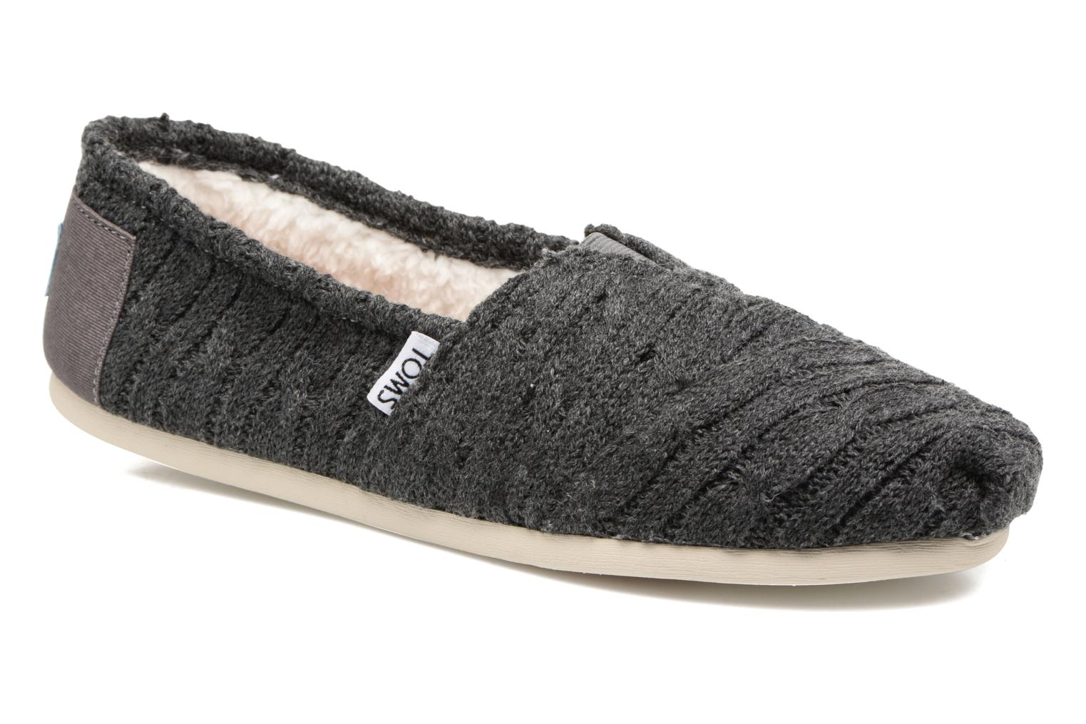 Loafers TOMS Seasonal classics knit Grey detailed view/ Pair view