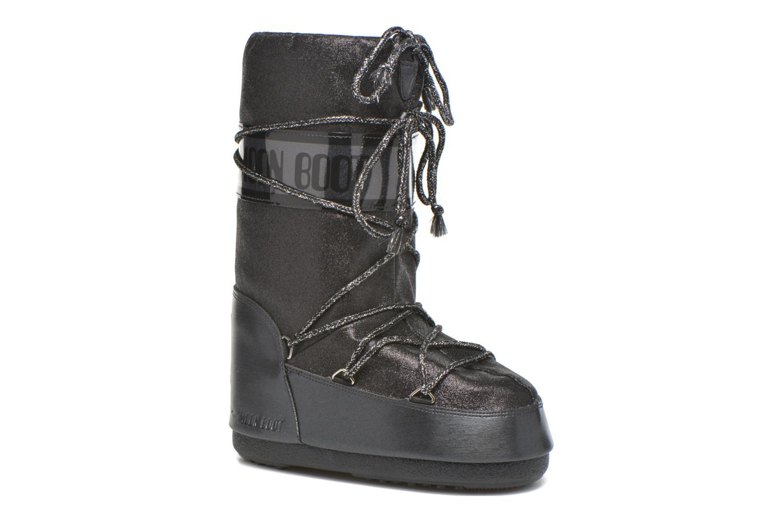 Bottes Moon Boot Delux E Noir vue détail/paire