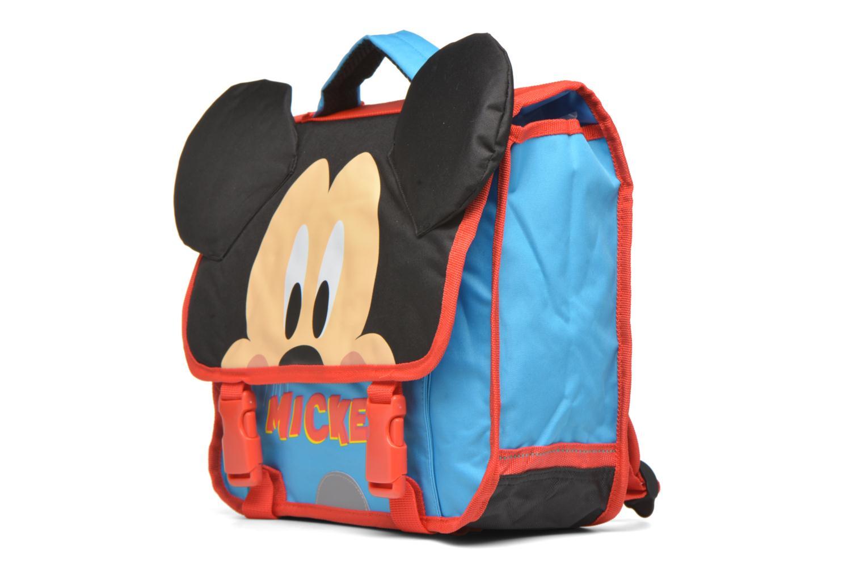 Scolaire Disney Mickey Cartable 35cm Bleu vue portées chaussures
