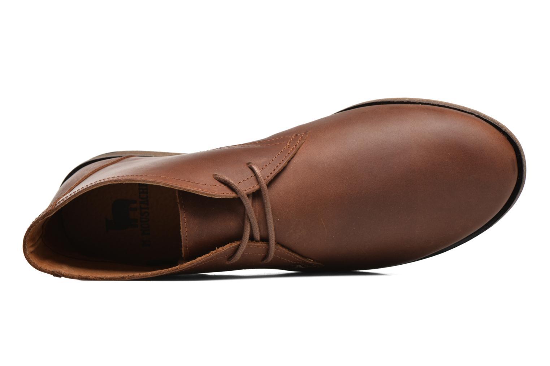 Chaussures à lacets M. Moustache Armand Marron vue gauche